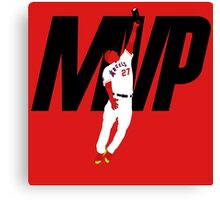 """Mike Trout """"MVP"""" Canvas Print"""