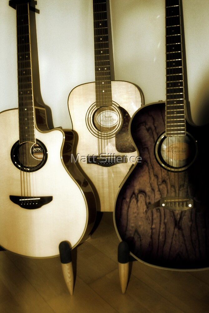 3 guitars by Matt Sillence