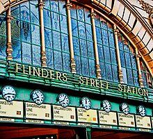 Melbourne Series - The Clocks, Flinders Street Station by sparrowhawk