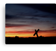 Tombstone Sunset Canvas Print