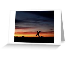 Tombstone Sunset Greeting Card