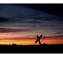 Tombstone Sunset Photographic Print