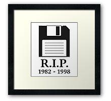 Rest in Peace RIP Floppy Disk Framed Print