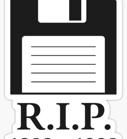 Rest in Peace RIP Floppy Disk Sticker