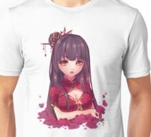 Girl and Flowers Unisex T-Shirt