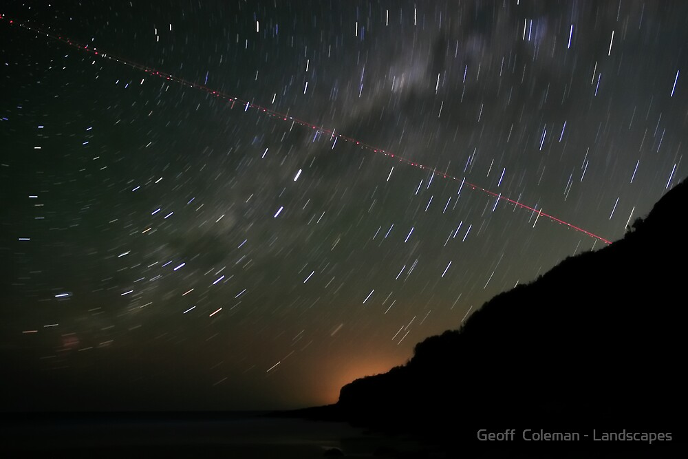 Startrails and Human Journeys #2 by Geoff  Coleman - Landscapes