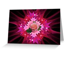 One Pink Rose to Go Greeting Card