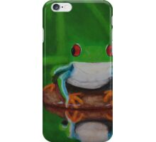Resting Tree Frog iPhone Case/Skin