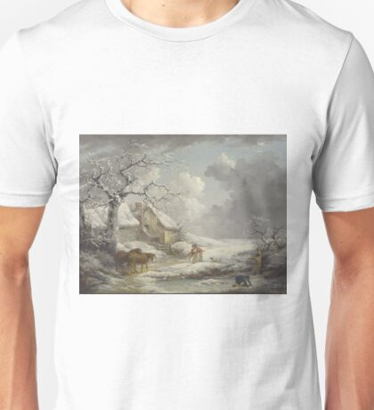George Morland - Winter Landscape 1790 Unisex T-Shirt