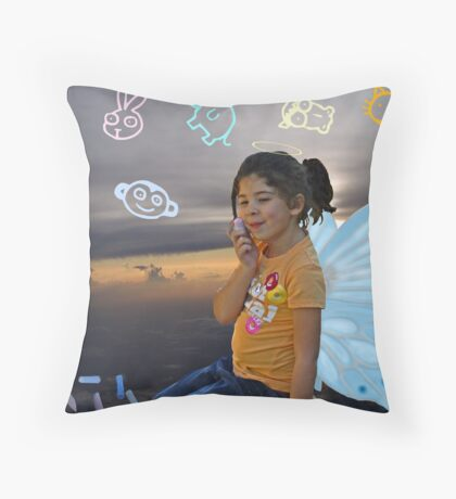 Heaven's Artist Throw Pillow