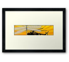 How do dragonflies and helicopters fly Framed Print