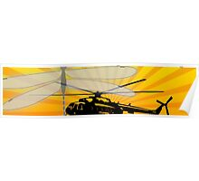 How do dragonflies and helicopters fly Poster