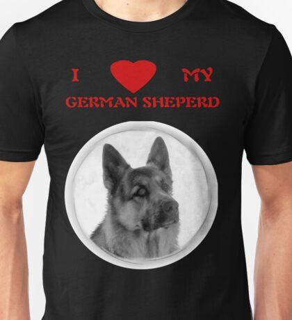 I LOVE MY GERMAN SHEPERD T-SHIRT Unisex T-Shirt