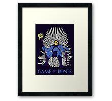 Game Of Bones Framed Print