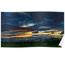 Nowhere Creek Sunset Poster