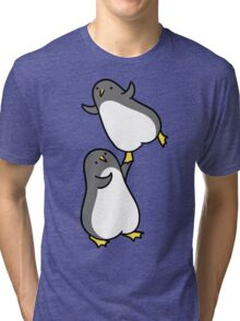 I Can Help You Fly - Dancing Penguins Tri-blend T-Shirt