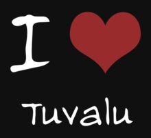 I love Heart Tuvalu Kids Tee