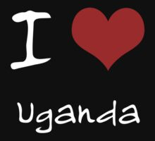 I love Heart Uganda by Ron Wareham