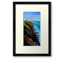 Bryron Lighthouse Framed Print