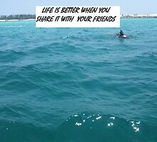 Dolphin Friend in Blue by Cyndi Jamerson