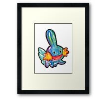 Cute Simplistic Mudkip Watercolor Tshirts + More! ' Pokemon ' Framed Print