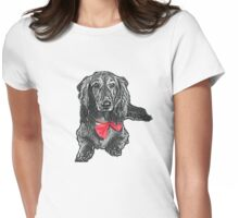 Dachshund in red Womens Fitted T-Shirt