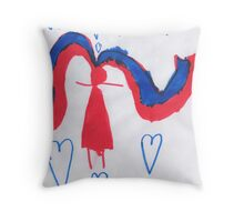 Pigtails Throw Pillow