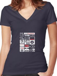 The RedBubble Life Women's Fitted V-Neck T-Shirt