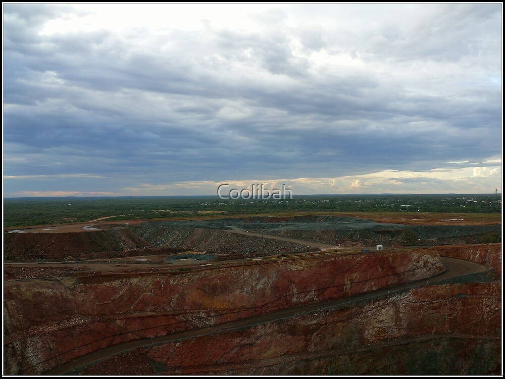 Skyscape over the mine by Ruth Anne  Stevens