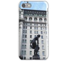 Sculpture, Plaza Hotel, Central Park South, New York City  iPhone Case/Skin