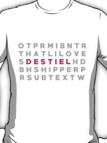 Destiel Crossword Puzzle T-Shirt