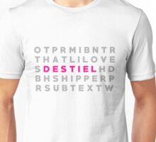 Destiel Crossword Puzzle Unisex T-Shirt