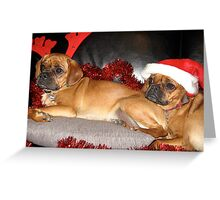 A Merry Pugalier Christmas Greeting Card