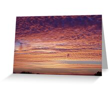 colorful sunset Greeting Card