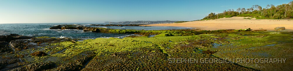 Spoon Bay panorama by STEPHEN GEORGIOU PHOTOGRAPHY