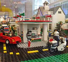 Lego Gas Station, FAO Schwarz Toystore, New York City by lenspiro
