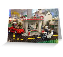 Lego Gas Station, FAO Schwarz Toystore, New York City Greeting Card