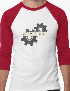 Engineer Clockwork Gears Men's Baseball ¾ T-Shirt