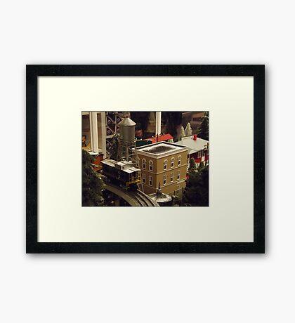Lionel Model Trains, Model Village, FAO Schwarz Toystore, New York City Framed Print