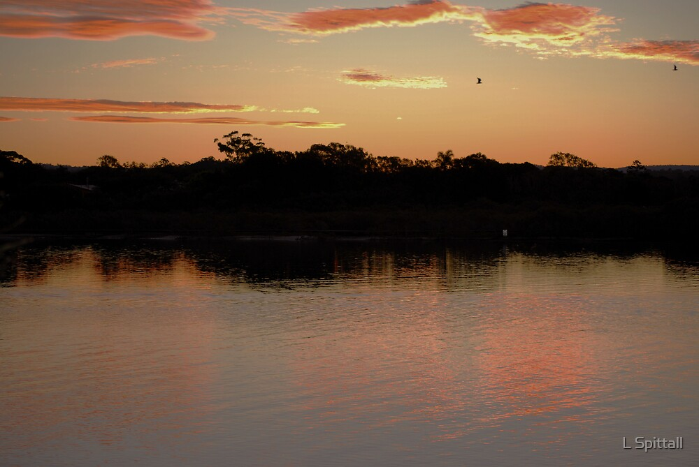 Currumbin Creek sunset by L Spittall