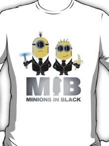 MIB: Minions In Black T-Shirt