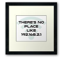 There's No Place Like Home IP Address Framed Print