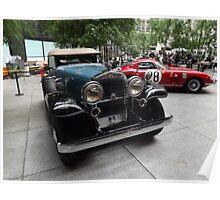 Classic 1932 Stutz Bearcat, 1966 Ferrari, New York City Poster