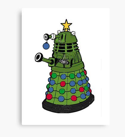 A Dalek Christmas Canvas Print