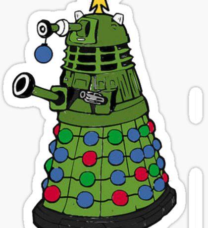 A Dalek Christmas Sticker