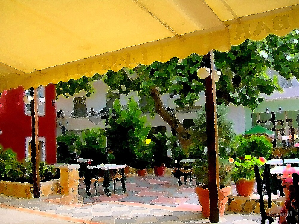Cafe in Paint by Karen Martin