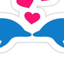 Dolphin love hearts Sticker