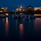 Cedar Key Waterfront at Night by Stacey Lynn Payne