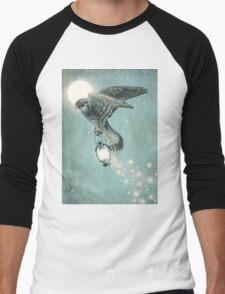 Nighthawk (portrait format) Men's Baseball ¾ T-Shirt