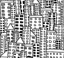 Cityscape Doodling by LaurelMae